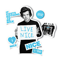 One Direction Limited Edition 1D OD Together Locker Decals Harry Nice Sky Blue by Office Depot