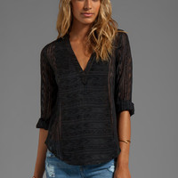 Twelfth Street By Cynthia Vincent Nostalgia Embroidered Henley in Black from REVOLVEclothing.com