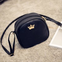 2017 Handbag Phone Purse Women Small Bag Imperial Crown PU Leather Women Shoulder Bag Small Shell Crossbody Bag