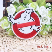 Ghostbusters Cheap Iron On Patches Badges DIY Applique Cartoon Patch Kids Embroidery Patches For Clothing