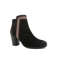 Suede Ankle Booties - Black