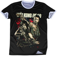 Summer Men Tops The Walking Dead 3D Printed T-Shirts Star Wars Short Sleeve T-Shirt Round Neck Tees