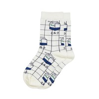 Milky Grid Socks (3 Colors)