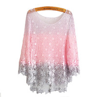 Pink Honey Peach Crochet Lace Blouse from FUNKISS