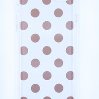 Kate Spade New York Hardshell Clear iPhone 6 PLUS Case - Gold Polka