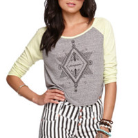 Kendall and Kylie Cropped Long Sleeve Raglan T-Shirt at PacSun.com
