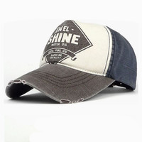 Vintage Baseball Cap for Women with Patchwork Adjustable Twill Cotton Hats Super Cool Summer Outdoor Snapback Cap