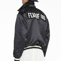 Fog Fear Of God Letter Embroidery Motorcycle Jacket Loose Coat S Xl | Best Deal Online