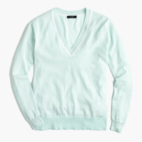 V-neck sweater in summerweight cotton : Women sweaters | J.Crew