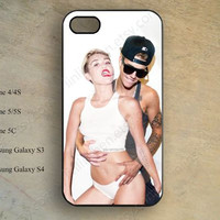 Miley Cyrus,Justin Bieber Phone case,iphone 5s case,iPhone 5c Case,iphone 5 case,iphone 4 case,samsung galaxy S4 S3,hipster iPhone caseX-165
