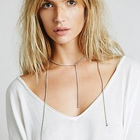 Haati Chai Womens Tri Necklace - Silver One