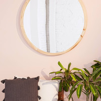 Anni Oversized Wooden Circle Mirror   Urban Outfitters