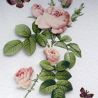 Rose Hand-Crafted 3D Decoupage Card - Blank for any Occasion (1719)