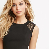 Netted Mesh Crop Top