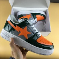 Foot Soldier BAPE STA Green Orange Star Sneaker Shoe 36-45