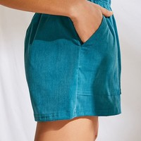 Urban Renewal Remnants Patch Pockets Corduroy Short | Urban Outfitters