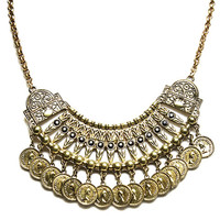 Gypsy Coin Fringe Statement Necklace | Wet Seal