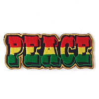 Peace Iron on Patch Size 8.7  x  3.3 cm