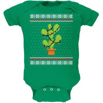 DCCKU3R Cactus Prickly Pear Tree Ugly Christmas Sweater Soft Baby One Piece