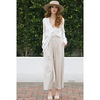 Lena Wide Leg Knit Pants