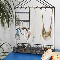 Triangle-Trim Jewelry Stand
