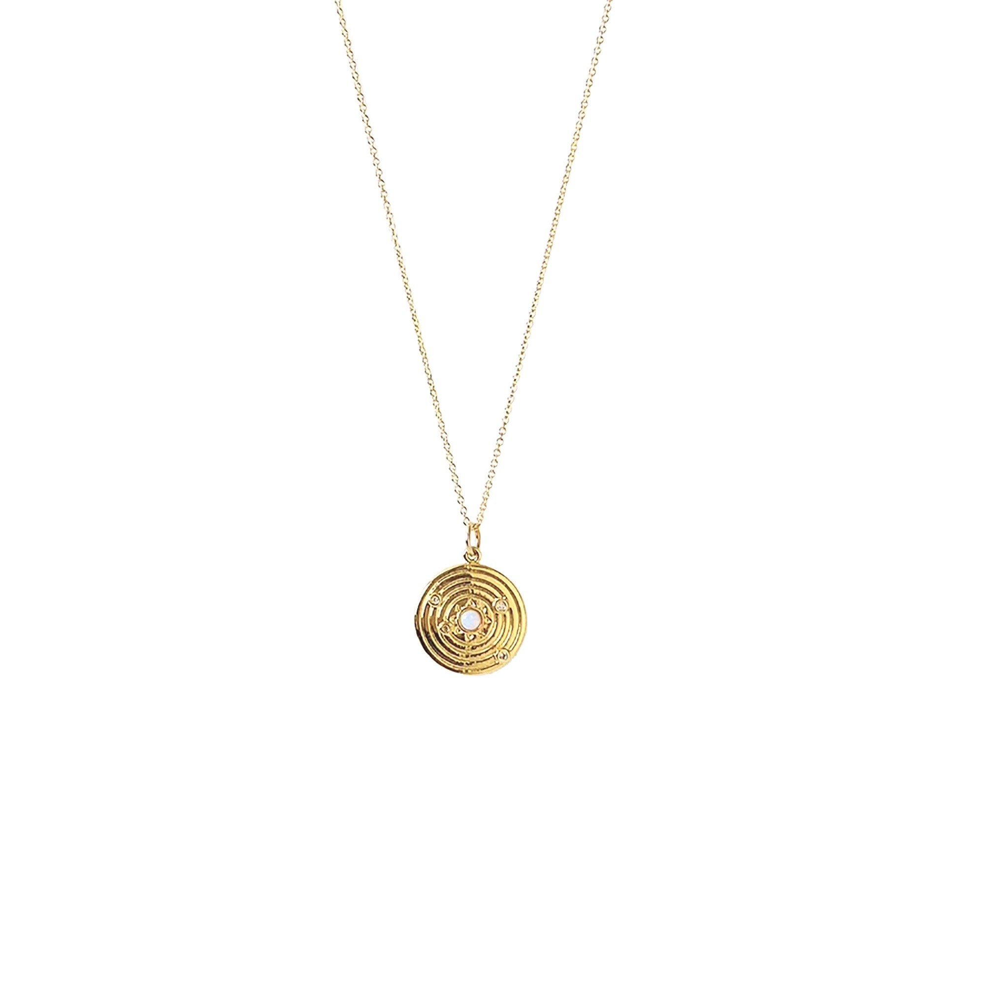 Image of Gold Coin Opal Necklace