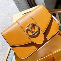 LV New fashion leather shoulder bag crossbody bag Brown
