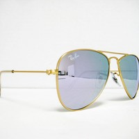 New 100% authentic Ray Ban Kids Sunglass RJ 9506 S 249/4V Gold/Lilac Flash 50mm