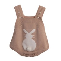 3-24M Easter Bunny Knitted Overalls
