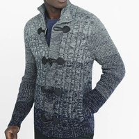 Shawl Collar Cable Knit Toggle Cardigan from EXPRESS