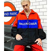 BALENCIAGA Popular Women Men Casual Print Zipper Cardigan Sweatshirt Jacket Coat Windbreaker Sportswear 1#