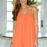 Life Is A Party Dress-Tangerine