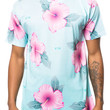 The Floral Tee in Aqua & Pink