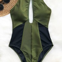 Cupshe Hear The Lullaby Mesh One-piece Swimsuit