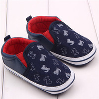 Toddler Baby Kid Girl Boy Non-Slip Sneakers Soft Slippers Shoes Prewalkers 0-18M NW