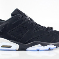 Air Jordan 6 VI Low Men's Retro Black Metallic Silver
