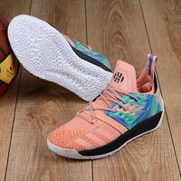 DCCK A154 Adidas James Harden Vol.2 Boost Training Basketball Shoes Pink