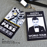 Justin Timberlake Backstage Pass with Lanyard