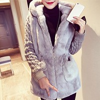 New Autumn Winter Warm Overcoat Big Fur Collar Hood Clothing Anorak Jacket Fashion Women Parka Warm Outerwear Coat With Hat