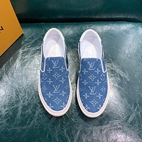 lv fashion men womens casual running sport shoes sneakers slipper sandals high heels shoes 48