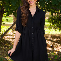 First Cut Tunic - Black
