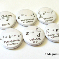 "Math Formulas 1"" MAGNETS Geek Nerd Teacher Science Equations"