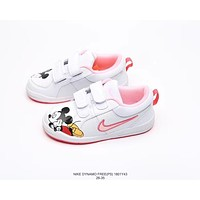 Nike Dynamo Free Velcro Low Casual Skate Shoes Kid Children Shoes KAA2002 13 Pink 26-35