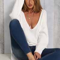 Soft White Knit - Tops - Clothes