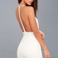 Sultry Nights White Lace Bodycon Dress