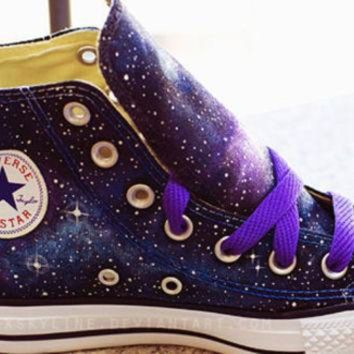CREYONB Galaxy Converse Sneakers Hand Painted Low Top
