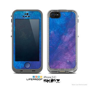 The Blue & Purple Pastel Skin for the Apple iPhone 5c LifeProof Case