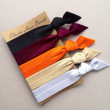 The Reese Hair Tie-Ponytail Holder Collection - 5 Elastic Hair Ties by Elastic Hair Bandz on Etsy