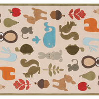 Critters Rug, Ivory, Acrylic / Lucite, Area Rugs