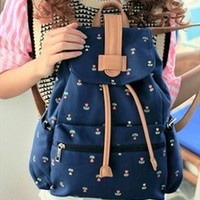 Cute Canvas School Backpack with Anchor from topsales